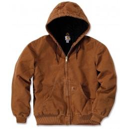 Veste à capuche Carhartt Sandstone Active Jacket Marron