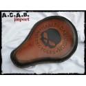 Selle solo medium marron fauve logo skull Harley