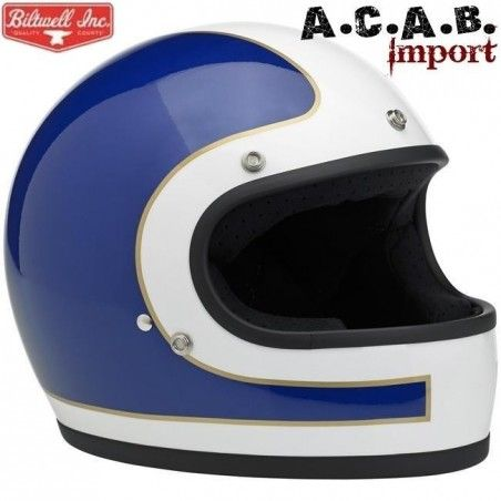 Casque Biltwell Gringo LE Tracker Red White Blue