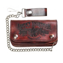 Portefeuille Biker Vintage Lucky 13 Traditional Speed