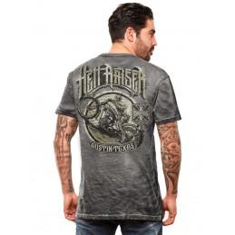 T-shirt gris WEST COAST CHOPPERS Hell Raiser
