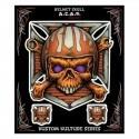 autocollant Lethal Threat Helmet Skull - 1