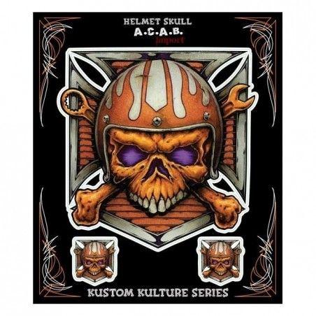 autocollant Lethal Threat Helmet Skull