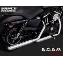 Vance & Hines Twin Slash 3' Slip on chrome Sporster Harley Davidson 2014 - 2019 Vance & Hines - 3
