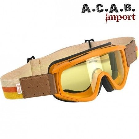 Lunettes de moto Biltwell Overland orange/brown
