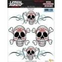 autocollant Lethal Threat pinstripe skull - 1