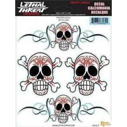 autocollant Lethal Threat pinstripe skull