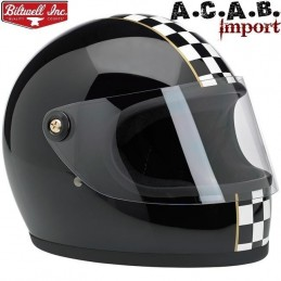 Casque Biltwell Gringo S LE Checker Gloss Black
