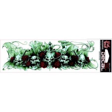 Autocollant skulls and roses
