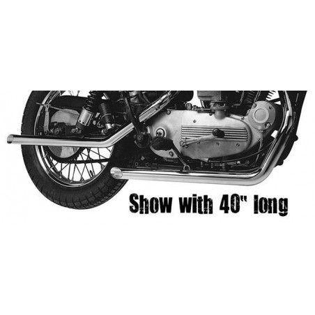 Echappement Drags Straight 34'' Sportster 1957 à 1985