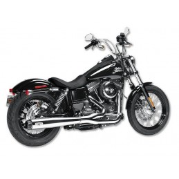 Echappement Arlen Ness Comp 2-1 chrome Dyna 08-16