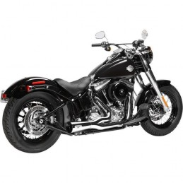 Echappement Arlen Ness by Magnaflow F-Bomb 2-1 chromé Softail 96-16