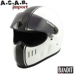 Casque moto integral Bandit XXR classic White Black stripes