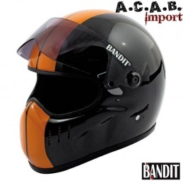 Casque moto integral Bandit XXR Race black orange stripes