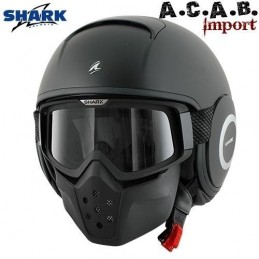 Casque SHARK Raw BLANK Mat Black Metal Mat