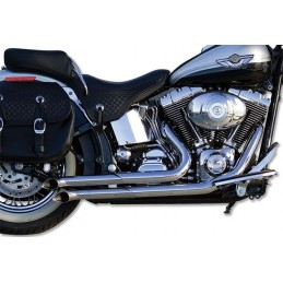 Echappement Chromé Paul Yaffe Buzzsaw Softail 86-up