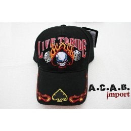 Casquette Biker Live to ride