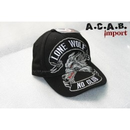 Casquette Biker Lone Wolf marque Hot Leather