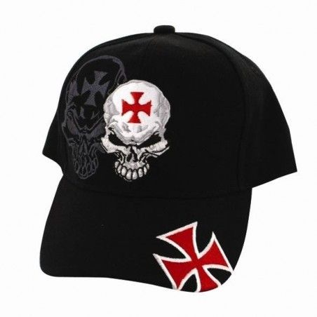Casquette Biker skull malte Zan import U.S.