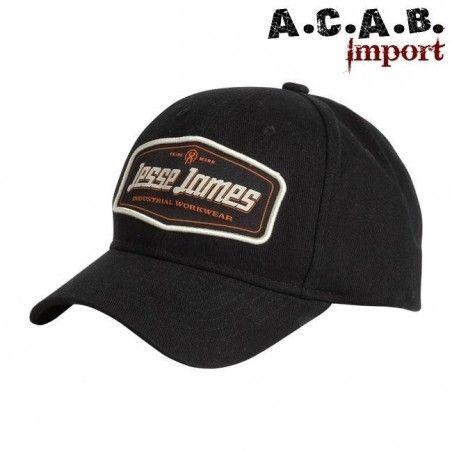 Casquette Jesse James Industry workwear noire