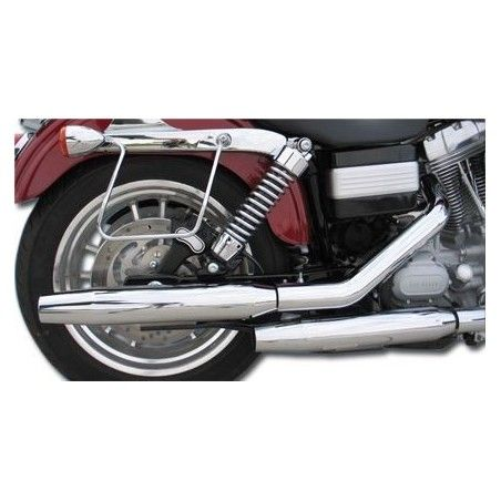 Silencieux Slash Tapered chromé Softail 05-06