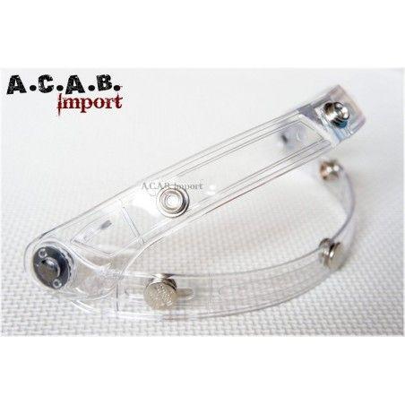 Charnière de casque transparente 3 pressions