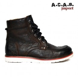 Chaussures montantes WORKBOOT JESSE JAMES INDUSTRIAL WORKWEAR BROWN