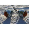 Clignotants Bullet chromés moto, trike, Hot rod Custom Chrome - 2