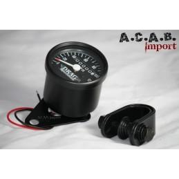 Compteur de vitesse 2.1 noir fond noir en MP/H avec collier pour guidon