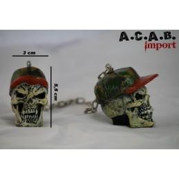 Dangler hunter skull decoration retroviseur voiture hot rod