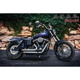 Echappement Crusher Maverick 2 In 2 Full System chrome Dyna 06-16 567