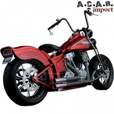 Echappements Python Throwbacks 41515 pour Softail Harley 1986 2011